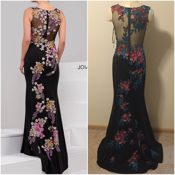 Jovani Dresses & Skirts - Multi Floral Fitted Long Gown